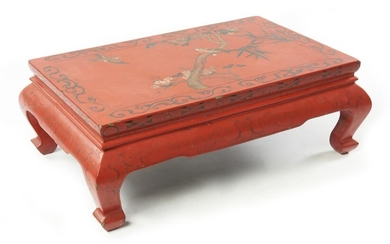 A CHINESE TIANQI LACQUER KANG TABLE QING DYNASTY (1644-1912), 19TH/EARLY 20TH CENTURY