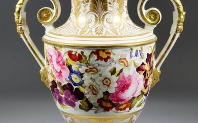 A Derby Porcelain Two-Handled Vase, Early 19th Century, the...