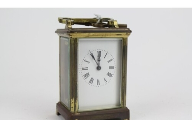 A French Brass Cased, Carriage Clock in Four Plate case with...