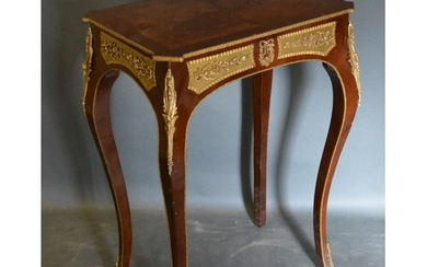 A French Style Marquetry Inlaid and Gilt Metal Mounted Side ...