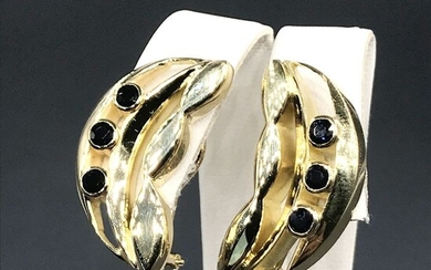 A. Giorgi -- 18 kt. Yellow gold - Earrings - 0.42 ct Sapphires