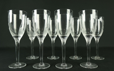 A Lalique France crystal group