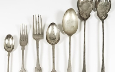 A Pair Of George V Silver Salad Servers, and...