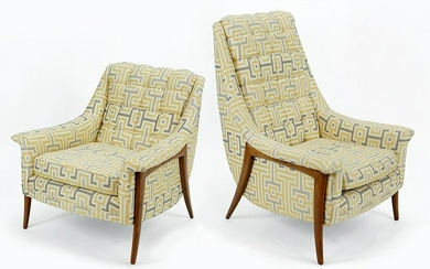 A Pair of Kroehler Mid-Century Modern His and Hers
