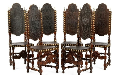 A Set of Six Portuguese Side Chairs