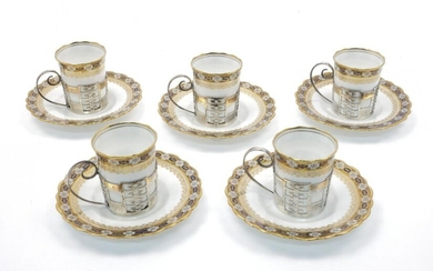 A five-piece Aynsley porcelain coffee set, to...