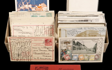 APPROX (120) GERMAN POSTCARDS CA. 1900-1910, SENT TO ROGERS & HOUSTON FAMILIES OF DENVER & BOSTON