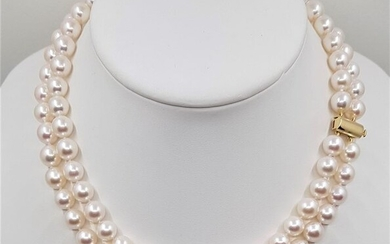 Akoya pearl necklace in 14k yellow gold