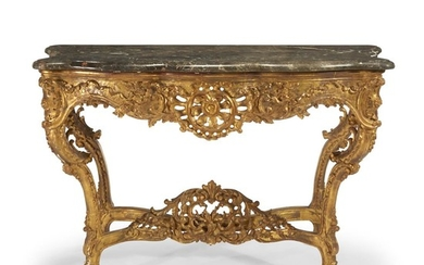 An Italian Rococo style giltwood console late 19th/early 20th...