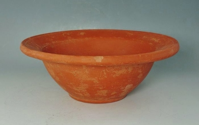 Ancient Roman Terracotta Red Ware Bowl - 58mm x 158mm