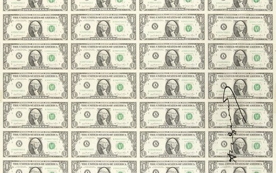 Andy Warhol - 32 times One Dollar bill