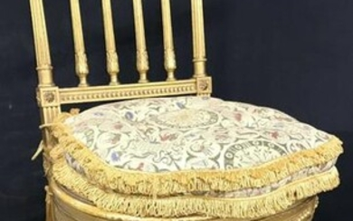 Antique French Louis XVI Gold Leafed Chair