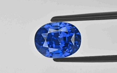 Blue Sapphire - 5.23 ct - Kashmir - Oval - with GIA