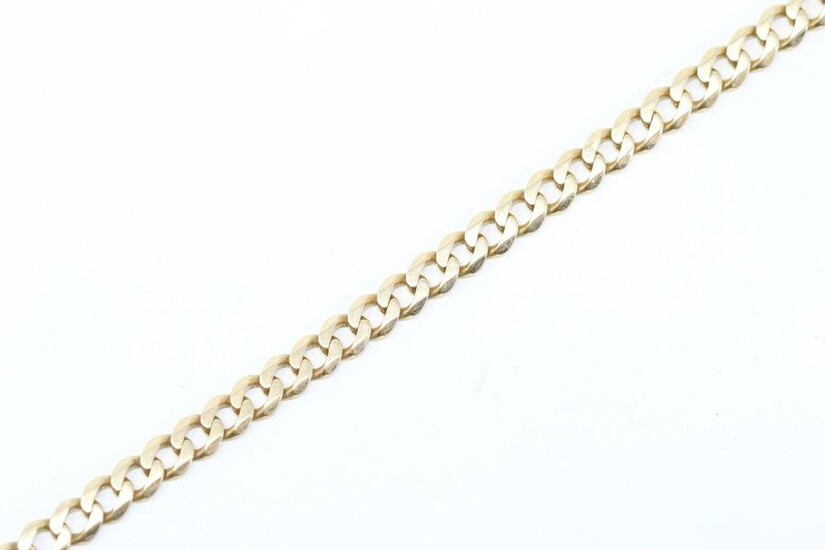 Bracelet in 18k (750) yellow gold with chain link.