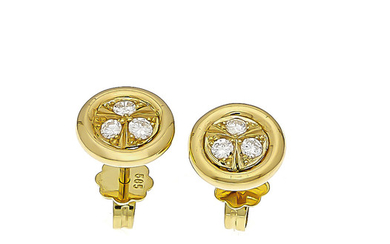 Brilliant stud earrings GG 585/000 with 6 brilliants,...