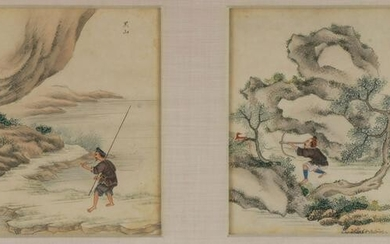 CHINESE EXPORT WATERCOLORS, 18TH C