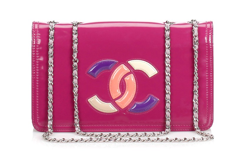 Chanel Pink Patent Lipstick Flap Bag