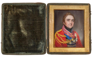 Charles Jagger, British 1770-1827- Portrait miniature of...