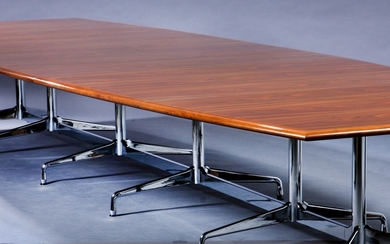 Charles and Ray Eames. Conference table, Segmented Table, L. 535 cm