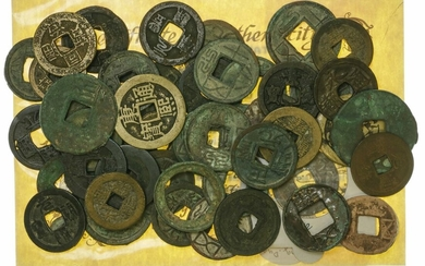 China (3rd century BC to 18th century AD), collection of AE Cash coins (26), together with Chin...