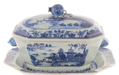 Chinese Export Soup Tureen & Underplate