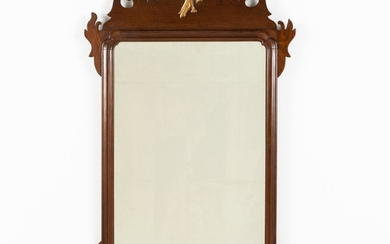 Chippendale Style Mahogany Mirror with Phoenix Bird EV1DJ