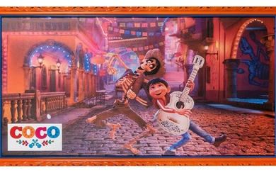 "Coco Movie Poster. 2017. Framed 29 x 54""."