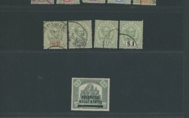 Collections and Ranges A selection of mint and used sets and single stamps from Brunei, Malaya...