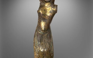 Crusaders Gilded Bronze Very Expressive Limoges Corpus Christi (probably from the Third Crusade)