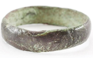 DOUBLY RARE VIKING WEDDING RING, 900-1050 AD, S7 1/2.