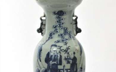 Early 20th C Chinese Blue & White Vase