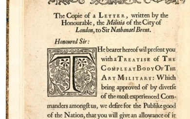 Elton, The Compleat Body of the Art Military, London, 1659, half calf