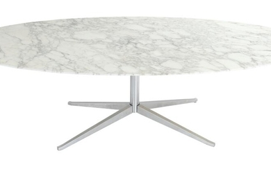 FLORENCE KNOLL OVAL DINING TABLE FOR KNOLL INTERNATIONAL