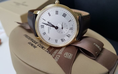 Frédérique Constant - slimline luxury gold plated men watch + 2 free Italian hand made strap - Men - 2019