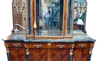 French Marble Top And Ormolu Mounted Server