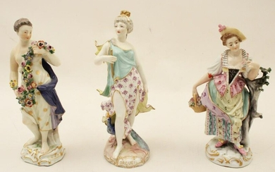 TWO MEISSEN AND ONE CONTINENTAL