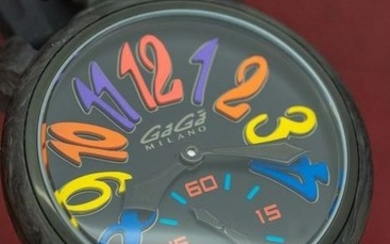 GaGà Milano - Mechanical Watch Full Carbon 48MM LIMITED EDITION Black Multi Colour - 6061.01S - Unisex - BRAND NEW