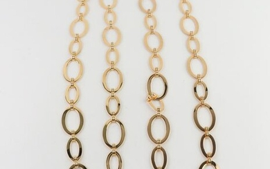 Gold-Tone Stainless Steel Chain Link Necklaces, Pr
