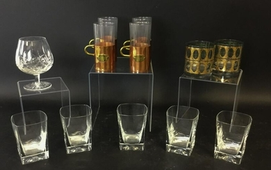Grouping of Glass Drinkware