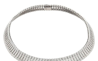 Hans D. Krieger White Gold and Diamond Collar Necklace