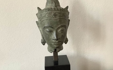 Head of Buddha - Bronze - Thailand - Late 19th century