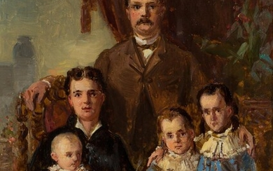 Hermann August Theodor Tunica (1795-1868) attributed, Family portrait, 1885, Oil on canvas