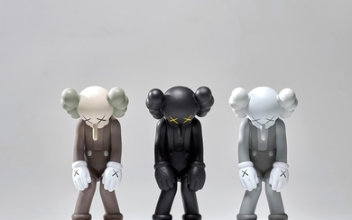 KAWS, SMALL LIE (BROWN); SMALL LIE (BLACK); and SMALL LIE (GREY)
