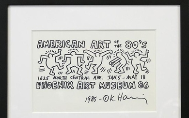 Keith Haring, Marker on Paper, American Art of the 80s