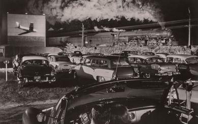 LINK, O. WINSTON (1914-2001) [Hot Shot Eastbound, Iaeger Drive-in, Iaeger, West Virginia,