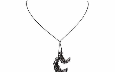 Lanvin Rhinestone Feather Necklace