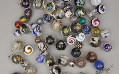 Large Group of Studio Glass Marbles