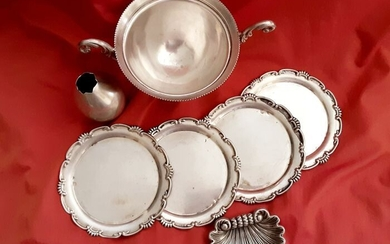 Lot of silver items (7) - .800 silver - Italy - 1920 -1970