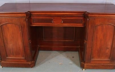 Mahogany English sideboard with storage ends