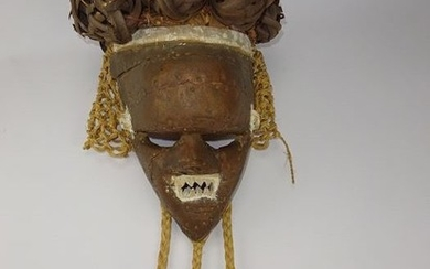 Mask - wood and copper - Salampasu - DR Congo